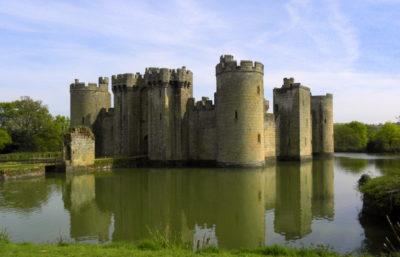 Bodiam Castle England children ruins East Sussex