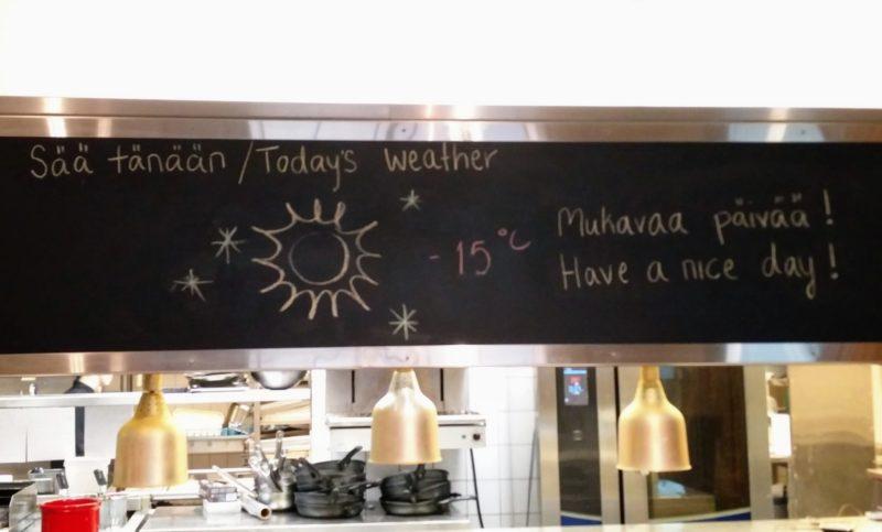 Lapland temeperature
