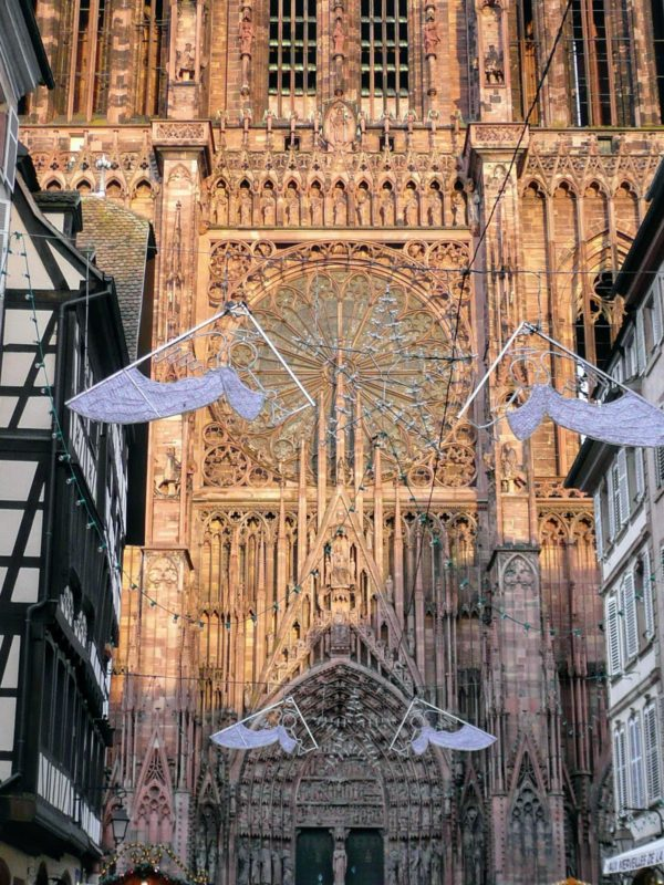 Christmas, Strasbourg, Cathedral of Our Lady, Alsace