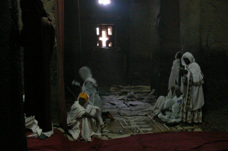 Lalibela church interior