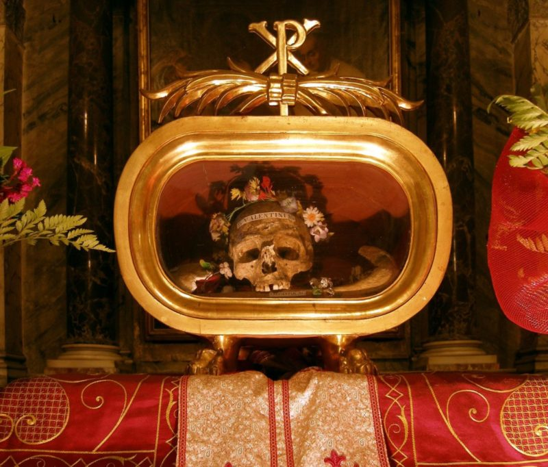 Saint Valentine skull