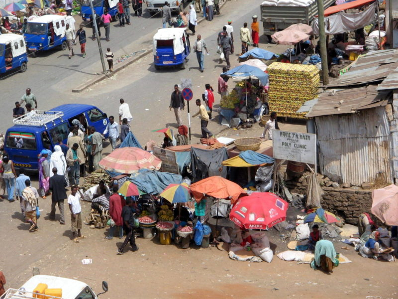 Harar market is always a bustling place.