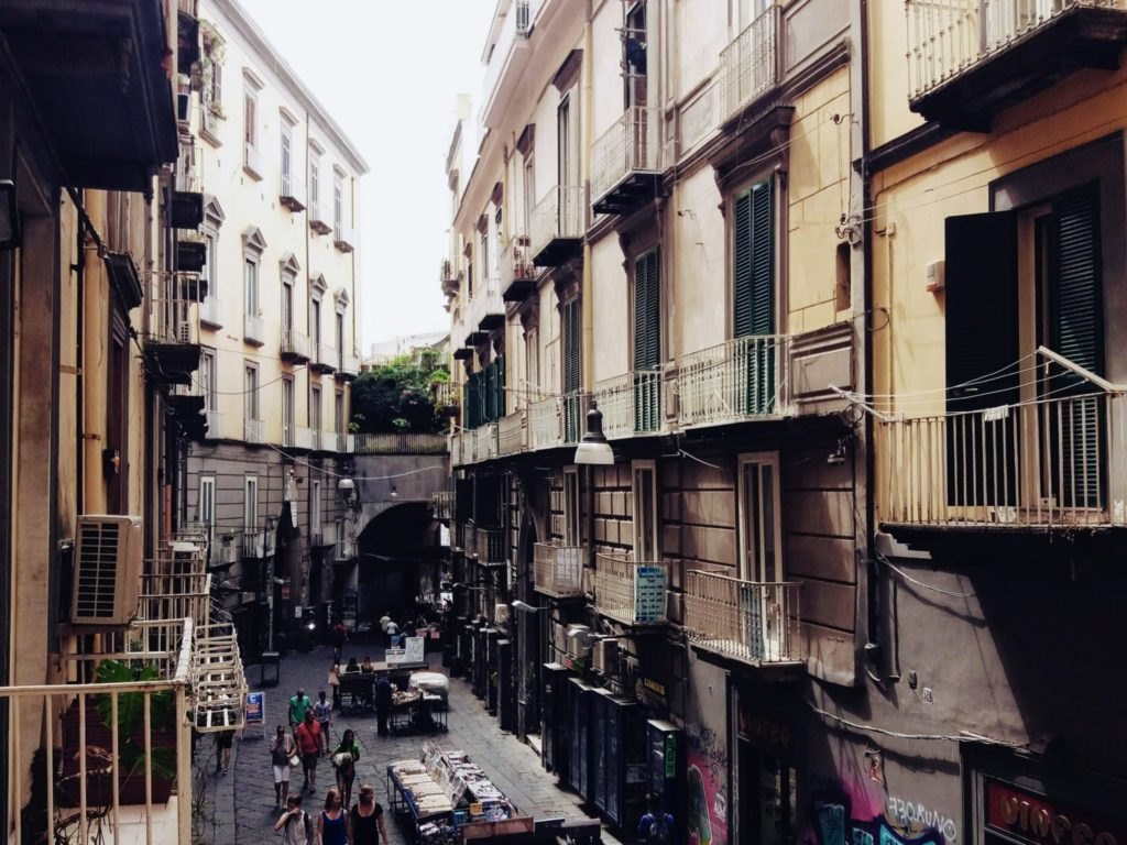 the street of Antica Pizzeria